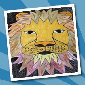 Knutseltafel - Oranje leeuw masker