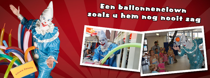 Clown Zassie als ballonartiest