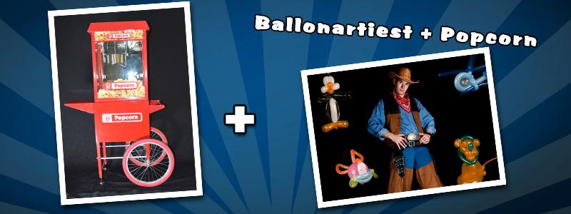 Ballonartiest & Popcorn uitdelen