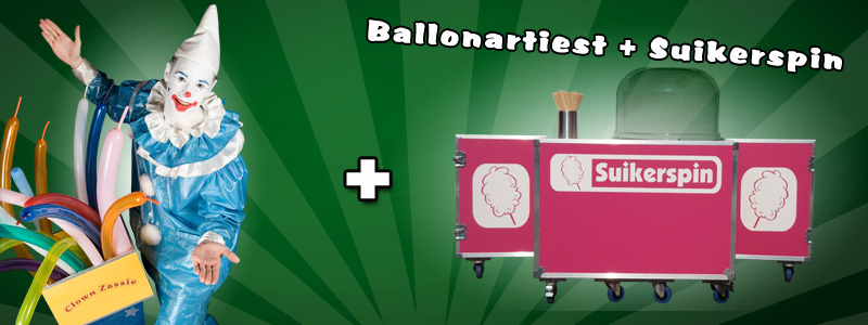 Ballonartiest & Suikerspinmachine