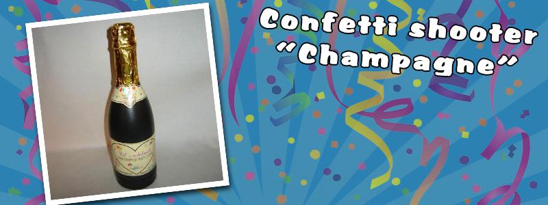 Confetti canon - champagne bottle