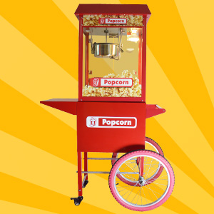Popcornmachine met kar